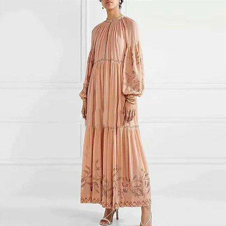 Vestido midi boho túnica