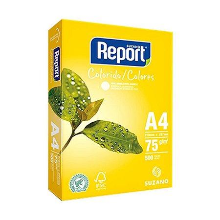 Papel Sulfite Amarelo A4 75g Report