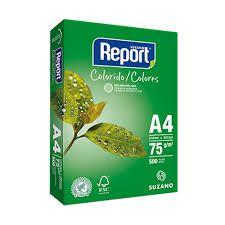 Papel Sulfite Verde A4 75g Report