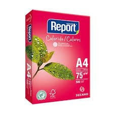 Papel Sulfite Rosa A4 75g Report