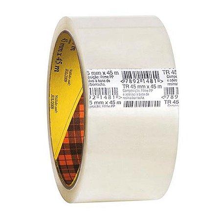 Fita Adesiva Empacotamento Scotch - Transparente - 3M