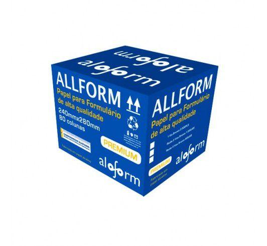 Formulário Contínuo 80 Colunas - 2 Vias - Liso c/ Carbono - Caixa c/ 1000 Folhas – Aloform