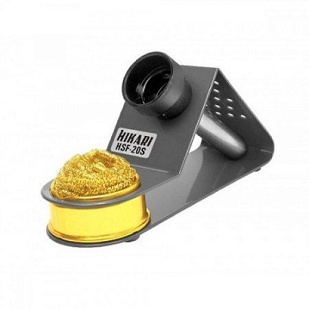 Suporte Para Ferro De Solda Hikari Com Esponja Metalica Dourada Hsf 20S