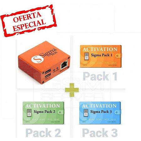 Sigma Box Com Conjunto De Cabos e Pacote De Ativações 1 2 3