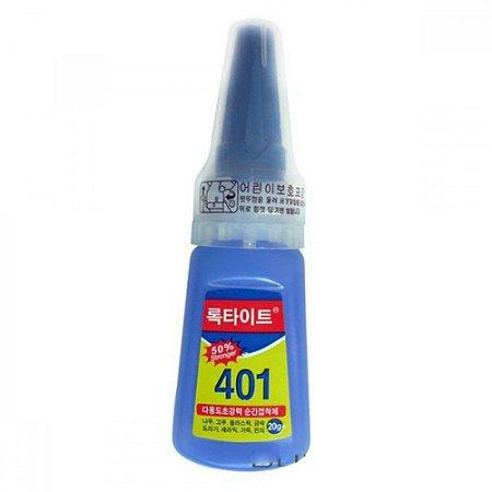 Cola Profissional De Secagem Leetite 401 20gr Metais Cimento Coreana