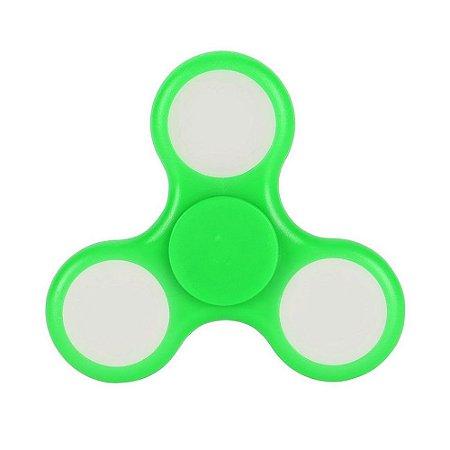 Fidget Hand Spinner Anti Stress Com Led Plastico Verde