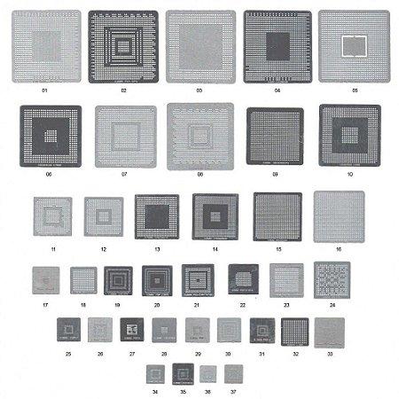 Kit De Stencil Para Reballing E Bga Stencil 37 Peças