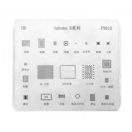 Stencil Para Reballing E Bga Iphone 5G P3012