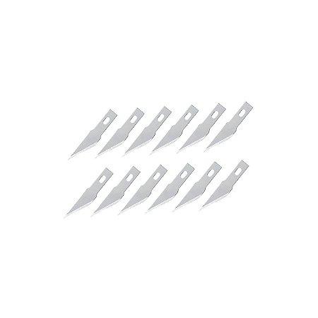 Refil De Lâminas De Alta Precisão Bisturi Kaisi Modelo 12 Kit Com 10 Lâminas