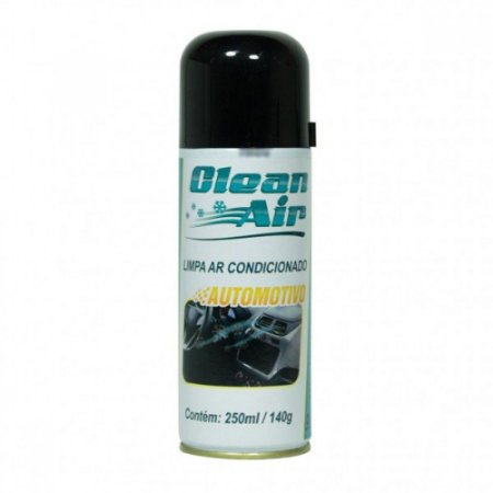 SPRAY AUTOMOTIVO CLEAN AIR 140GR/250ML / HIGIENIZADOR DE AR CONDICIONADO AUTOMOTIVO IMPLASTEC