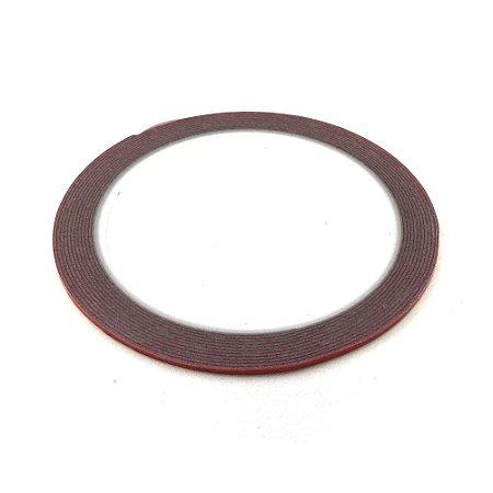 Fita Adesiva Dupla Face De Espuma Foam 2mm 3M Vermelha