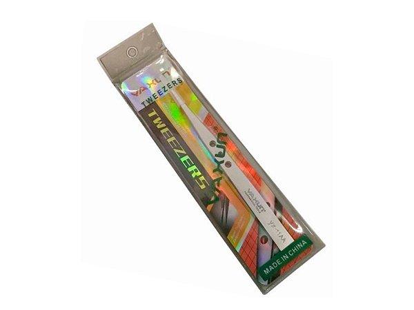 Pinça Reta Yaxun yx11AA Aço Inox Antiestatica Prata