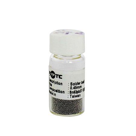 Esferas Bga Reballing 0.45mm Pote Com 25Mil