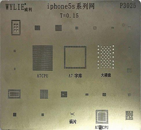 Stencil Wylie Para Reballing E Bga Iphone 5S P3025