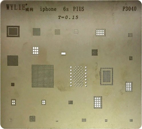 Stencil Wylie Para Reballing E Bga Iphone 6S Plus