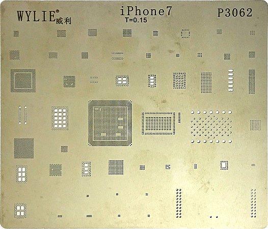 Stencil Wylie Para Reballing E Bga Iphone 7 P3062