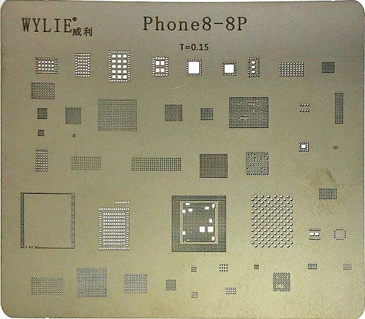 Stencil Wylie Para Reballing E Bga Iphone 8 - 8Plus