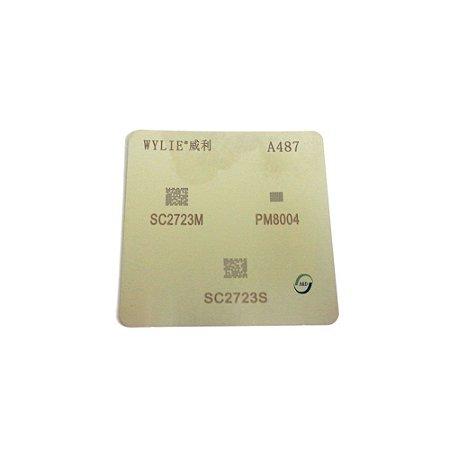 Stencil reballing BGA A487 Samsung PM8004 SC2723S SC2723M Aquecimento Direto