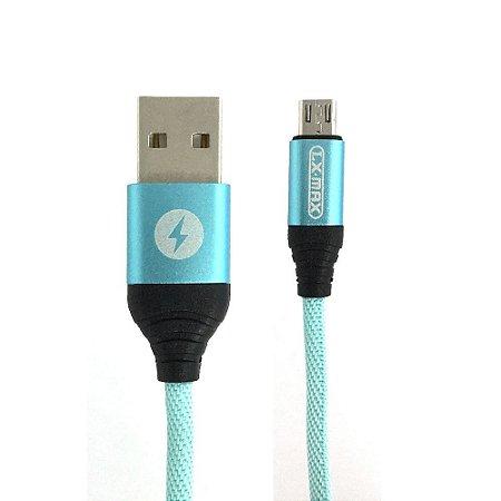 Cabo Dados Micro USB Nylon Resistente Lx Max Original