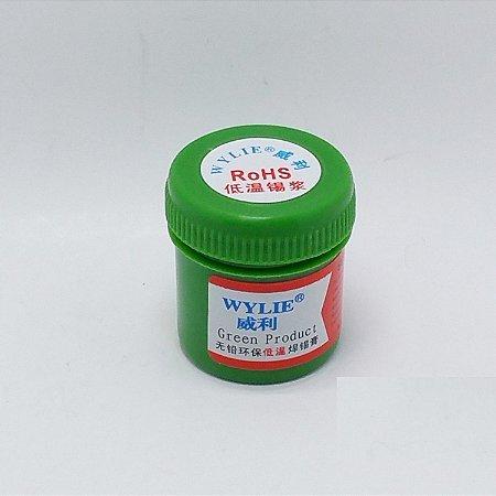 Solda em pasta Wylie  WL-201 Baixa Temperatura Lead Free 30g