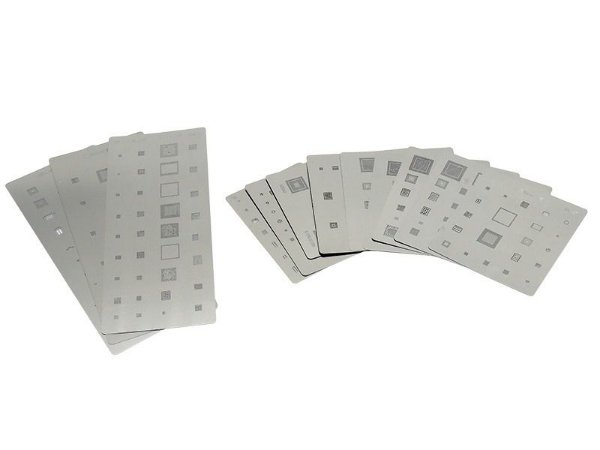 Kit Stencil Para Reballing E Bga Samsung 14 peças