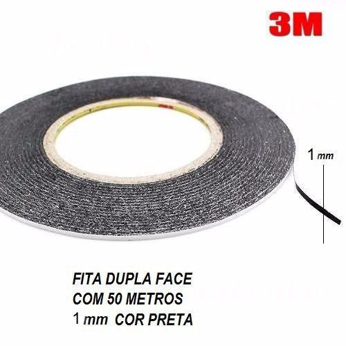 Fita Adesiva 3M Dupla Face 01mm X 50mts Preto