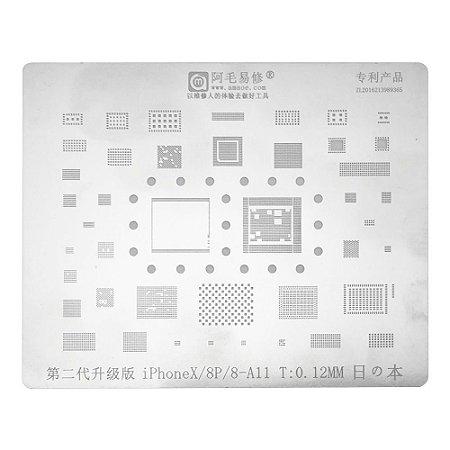 Stencil A11 iPhone 8 8 Plus X Amaoe