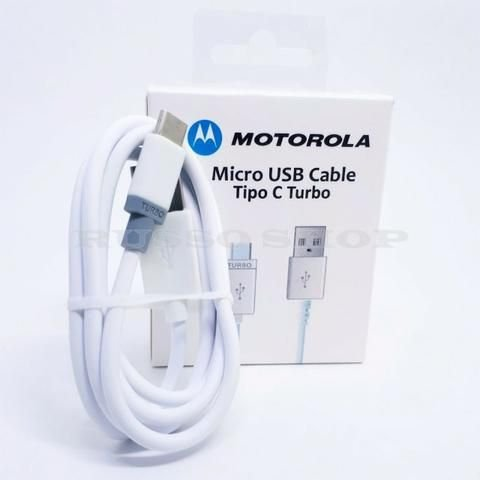 Cabo usb Motorola Tipo C BRANCO Caixa