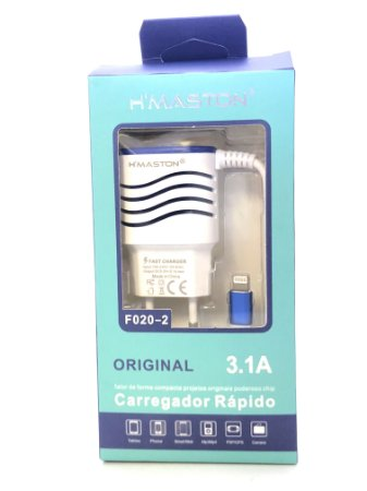 Carregador HMASTON F020-2 BRANCO iphone ipad ipod