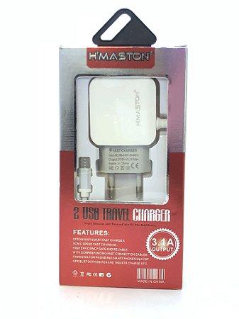 Carregador HMASTON F030-1BRANCO Micro USB