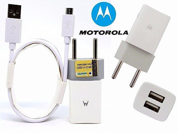 Carregador Motorola usb Duplo Micro usb BRANCO