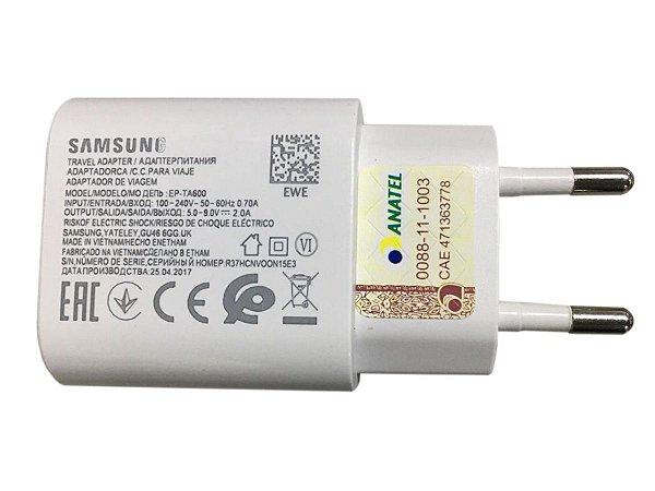 Carregador Samsung Turbo 30w usb ZTD BRANCO Micro usb v8