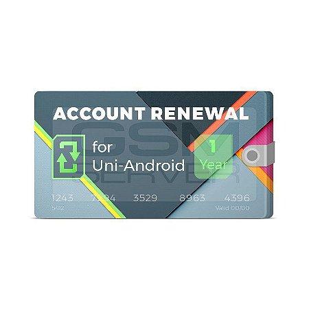 Renovação Uni Android Tool 1 Ano