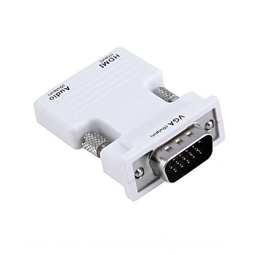 Adaptador Entrada HDMI Macho Saida VGA Audio Femea Coaxial