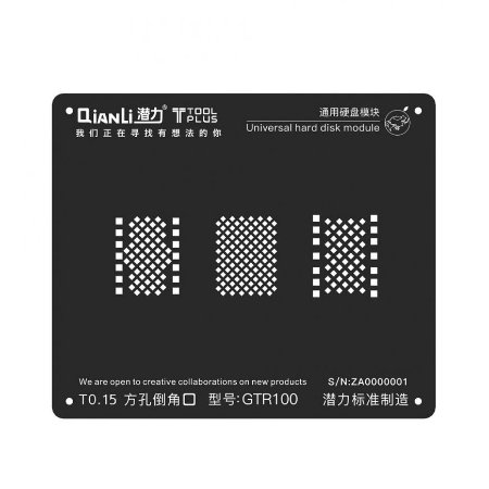 Stencil Black GTR100 Hard Disk Nand Iphone 6 6s 7 8 Qianli