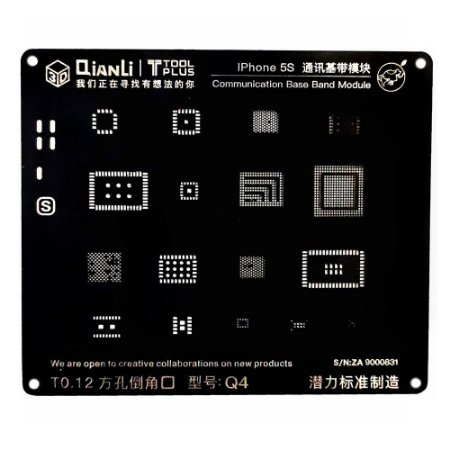 Stencil 3D Black Base Band iPhone 5s Qianli Q4