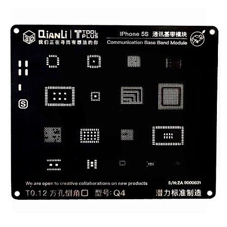 Stencil 3D Black Base Band iPhone 5s Qianli Q4