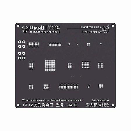 Stencil 3D Black Power Logic iPhone 8 X Qianli
