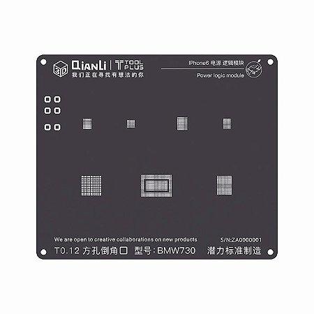 Stencil 3D Black Power Logic iPhone 6 Qianli