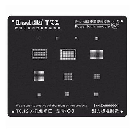 Stencil 3D Black Power Logic iPhone 5S Qianli Q3