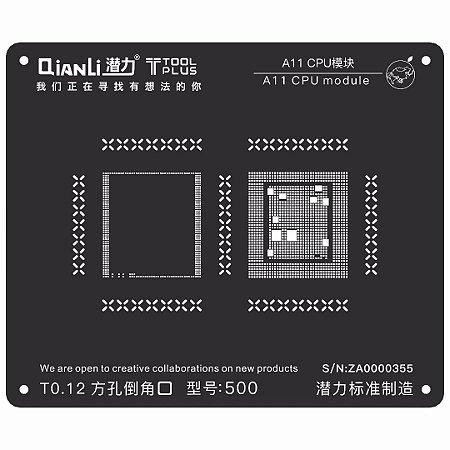 Stencil 3D Black CPU A11 8 Qianli