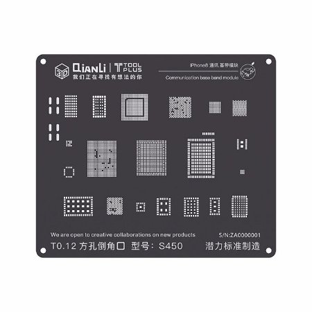 Stencil Black Base Band iPhone 8 X Qianli