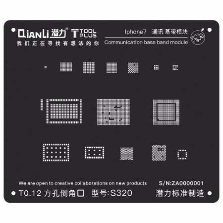 Stencil Black Base Band iPhone 7 Qianli