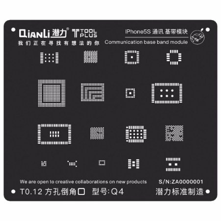 Stencil Black Base Band iPhone 5s Qianli