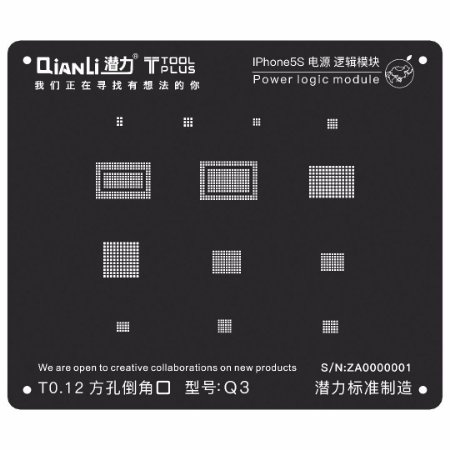 Stencil Black Power Logic iPhone 5S Qianli