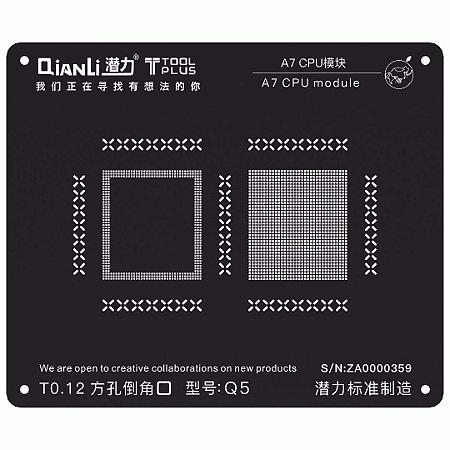 Stencil Black CPU A7 5S Qianli