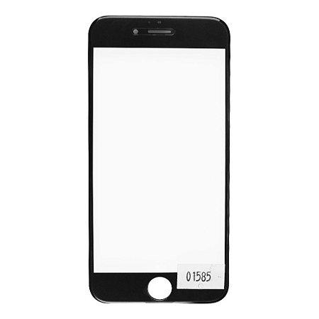 Vidro Frontal Iphone 6S 4.7 Preto Com Moldura