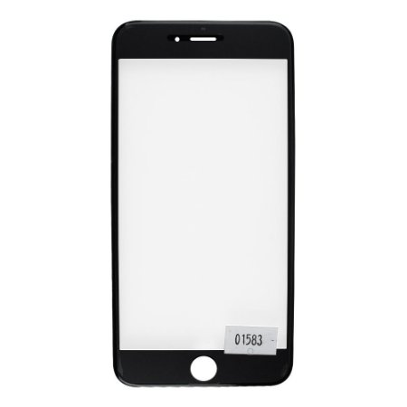 Vidro Frontal Iphone 6Plus 5.5 Preto Com Moldura