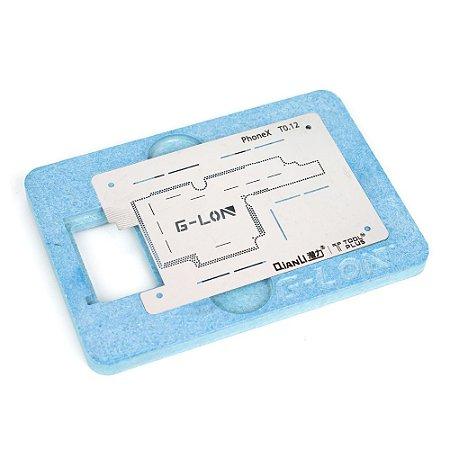 Suporte Fixação Stencil BGA Reballing iPhone x G-Lon Qianli
