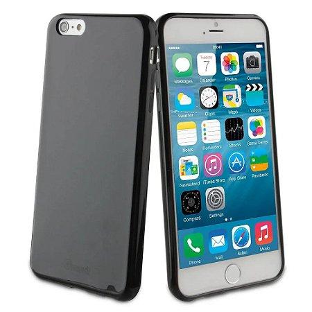 Capa Ultrafina iPhone 6G 6S 4.7 Preta Fume Silicone